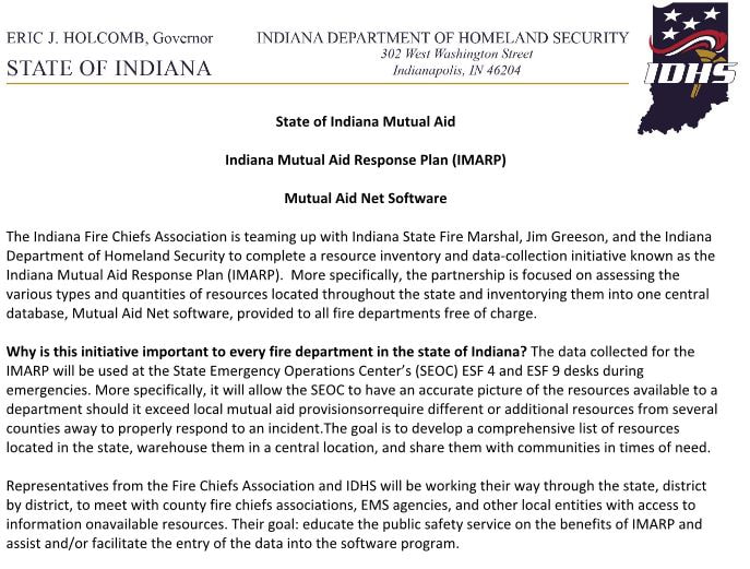 Imarp Indiana Fire Chiefs Association